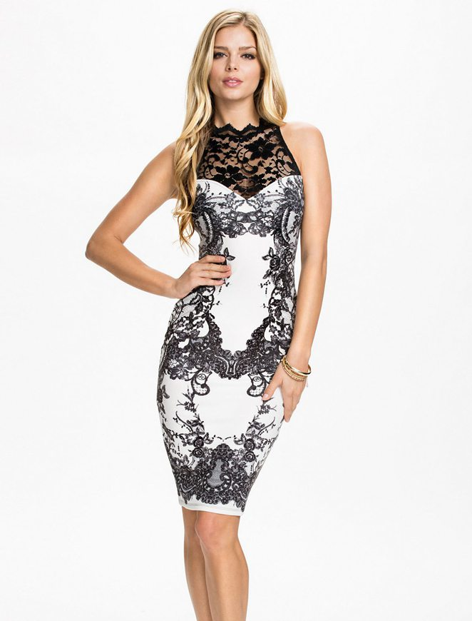 Lace Halter Neck Dress