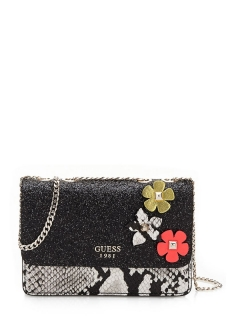 ELECTRIC PARTY FLORAL CROSSBODY BAG